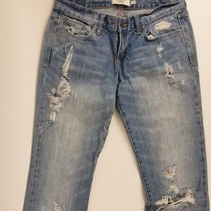 Abercrombie Distressed Madison Jean's Sz 2 Reg